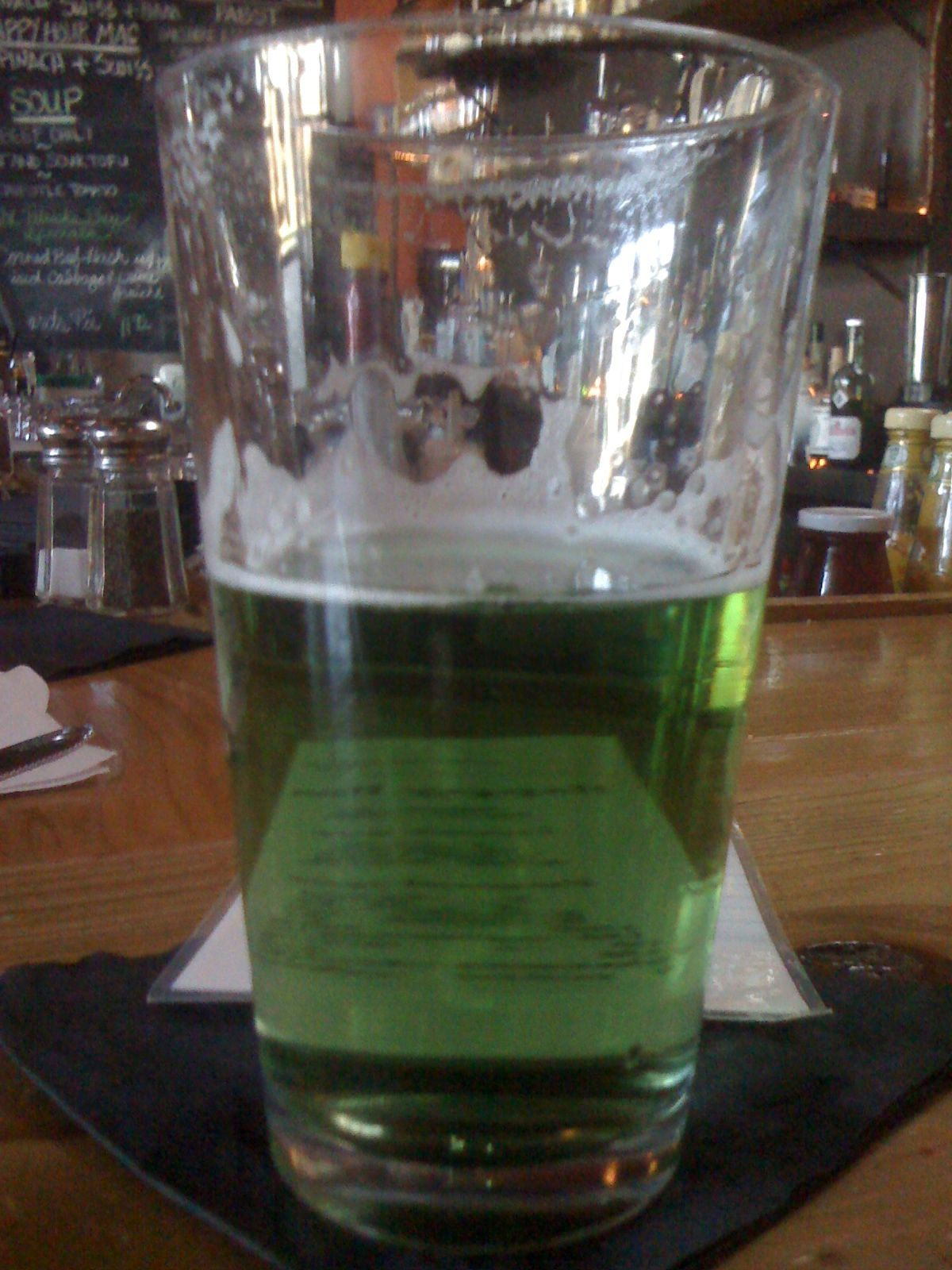 Only Half of the Green Beer Left   DrKnife iPhone Photo Blog