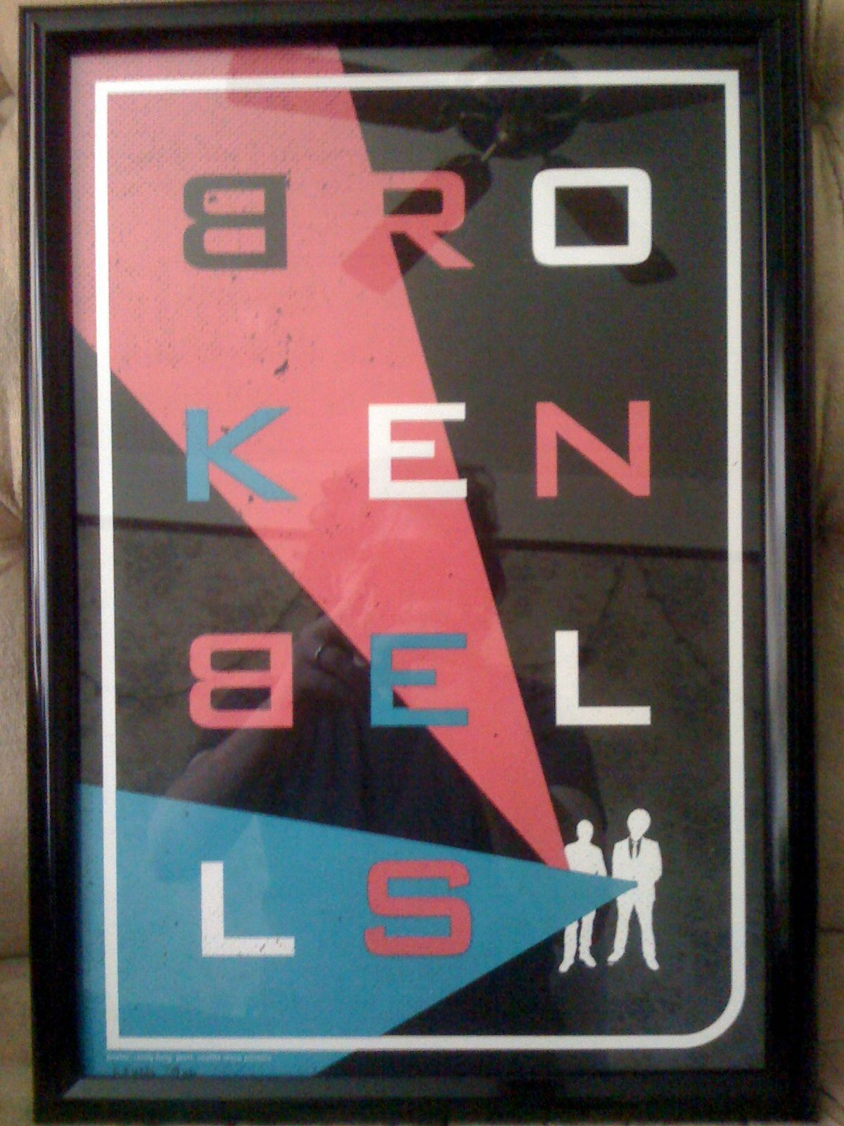 My Broken Bells Poster is Framed   DrKnife iPhone Photo Blog