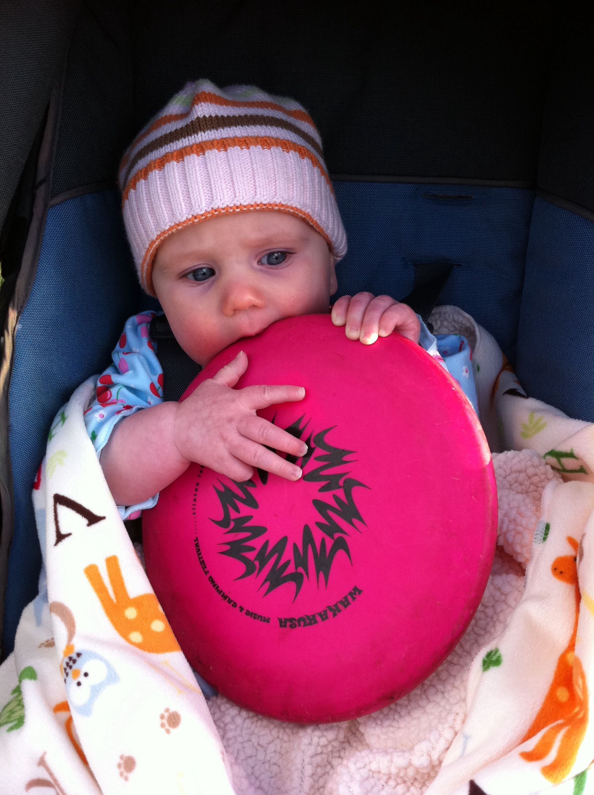 Eleanor Says 1st Disc Golf Round of the Season Went Well. Shot 2 Under Par.   DrKnife iPhone Photo Blog